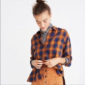 Madewell Westward Ardan Plaid Shirt XXS